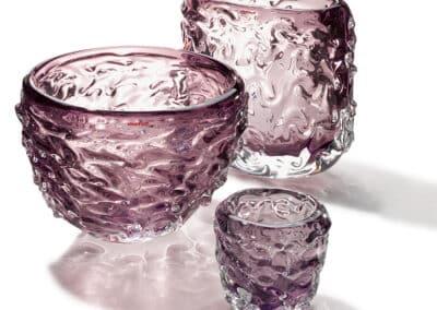 Wave Vasen Und Teelichter 3er Gruppe Violet