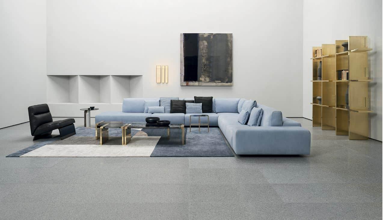 Baxter Sofa blau