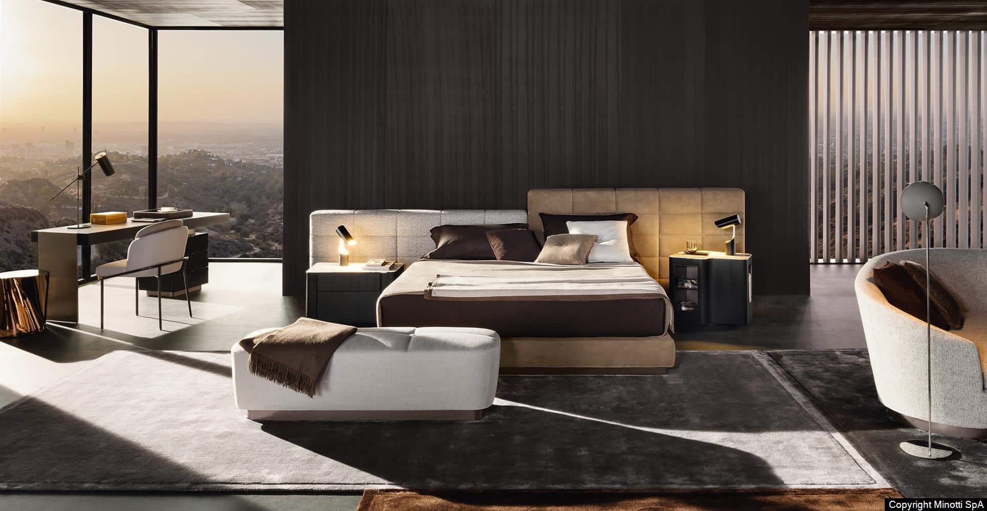 Z Lawrence Bed Gallery Minotti